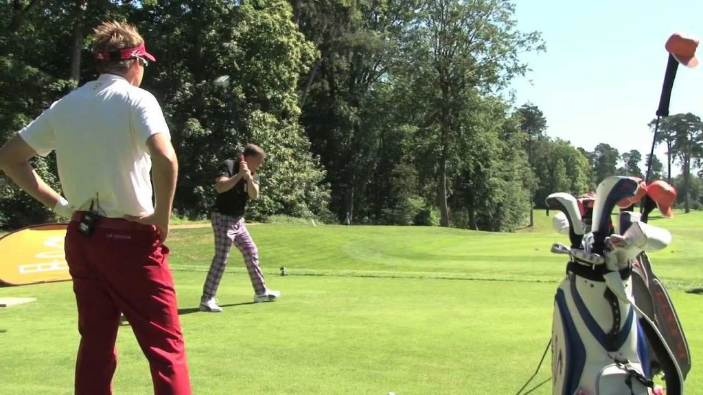 Trick Shot Challenge with Ian Poulter and World Trick Shot Champion Geoff Swain