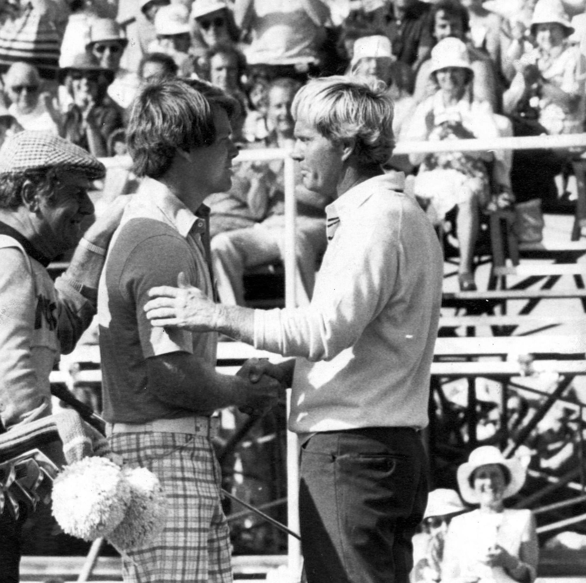 British Openissa 1977 Jack Nicklaus joutui taipumaan 10 vuotta nuoremmalle Watsonille.