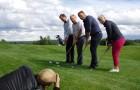 United Golf Groupin takaa löytyvät Ville Nurmi (vas), Kari Laakso, Jari Koski ja Hanna-Leena Ronkainen.