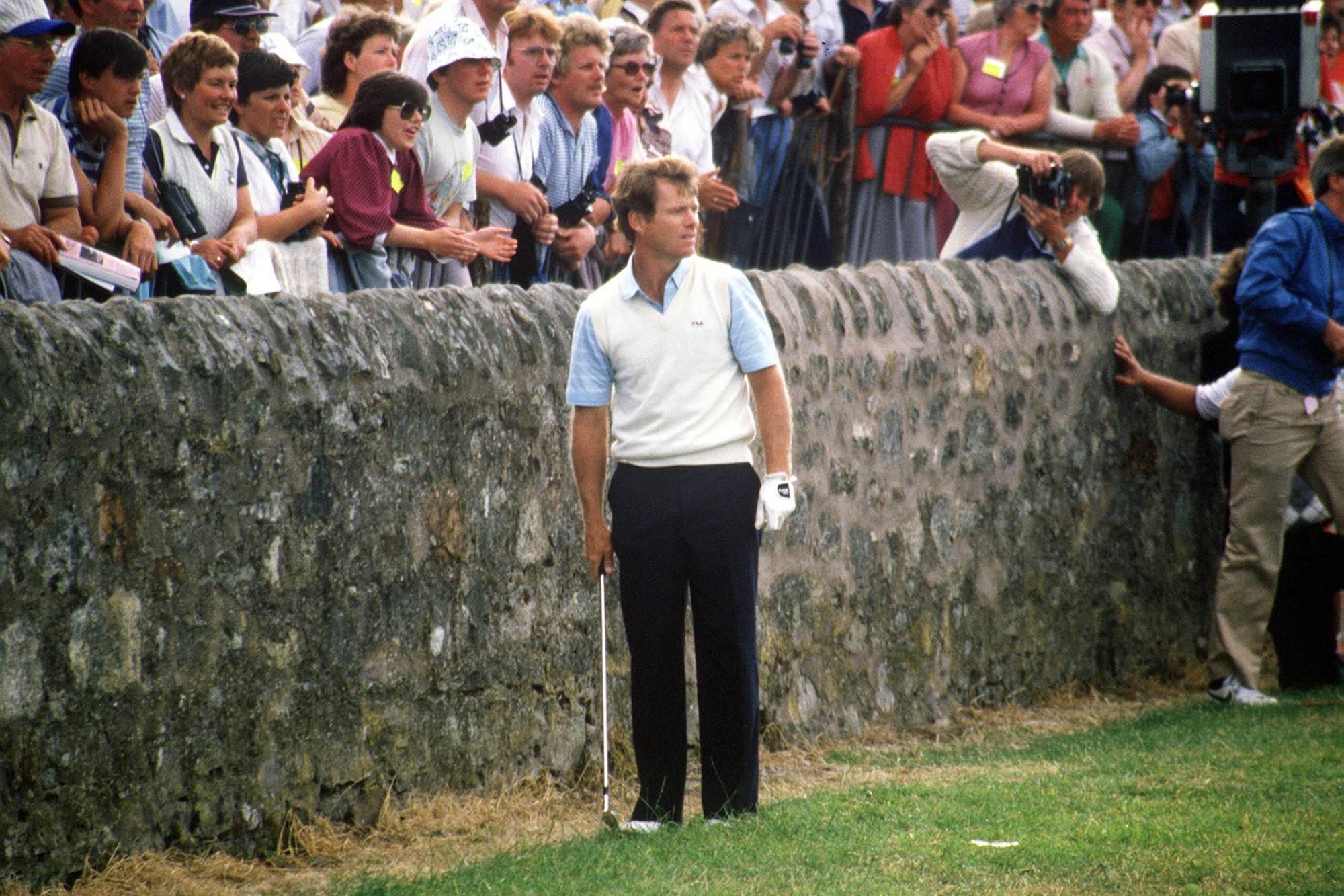 St. Andrewsin The Road Hole -väylän muuri aiheutti Watsinille ongelmia British Openissa 1984.