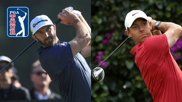 Rory McIlroy and Dustin Johnson long-drive compilation